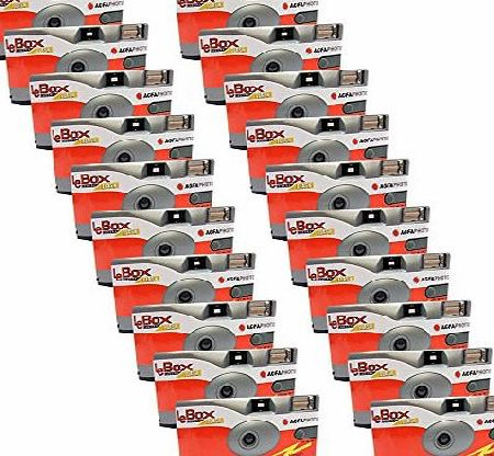 Agfa 20x PHOTO PORST Disposable Camera/Wedding Camera / Agfa (Cameras 27 Photos Flash 20 Pack)