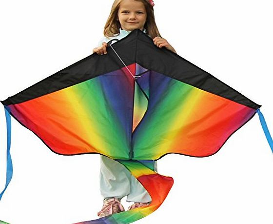 aGreatLife Huge Rainbow Kite For Kids - One Of The Best Selling Toys For Outdoor Games Activities - Good Plan For Memorable Summer Fun - This Magic Kit Comes With Lifetime Warranty amp; Money Back Guarantee