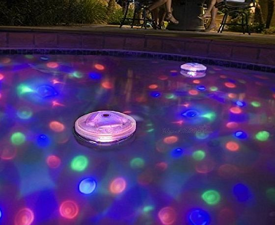 Ailiebhaus Pond Light LED Swiming Pool Waterproof Lights with 5 Different Light Color Party Hot Hub Disco Ball Light