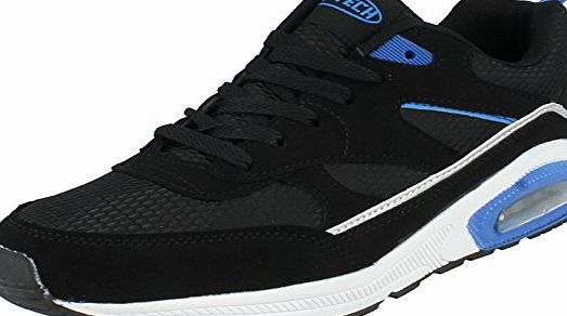 Airtech Mens Airtech Trainers Legacy Black/ Silver/ Blue Size 10