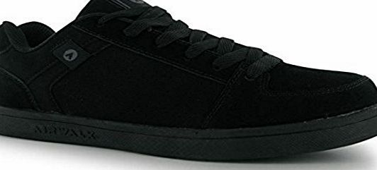 Airwalk Mens Brock Skate Shoes Lace Up Suede Accents Sport Casual Trainers Black UK 8
