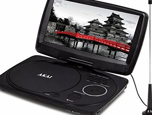 Akai A51003 10-Inch Portable DVD Player with Digital TV Tuner - Black