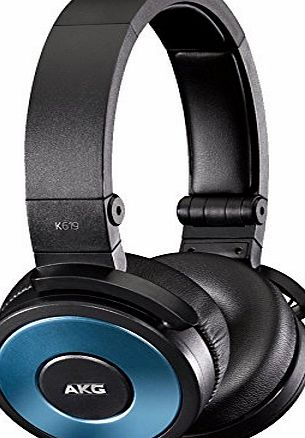 AKG High-Performance DJ Headphones with In-Line Microphone and Remote - Blue