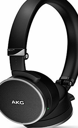AKG N60NC Foldable Active Noise Cancelling On-Ear Headphones with Carry Case - Black