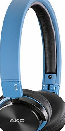 AKG Y40 Mini On-Ear Headphone with Remote/Microphone and Detachable Cable - Blue