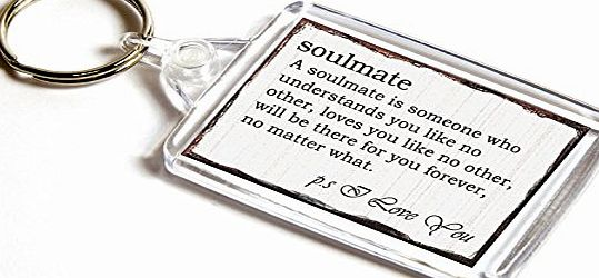 AKGifts Soulmate - Double-Sided Keyring, Valentines Day Gift