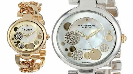 Womens Diamond and Mother of Pearl Watch