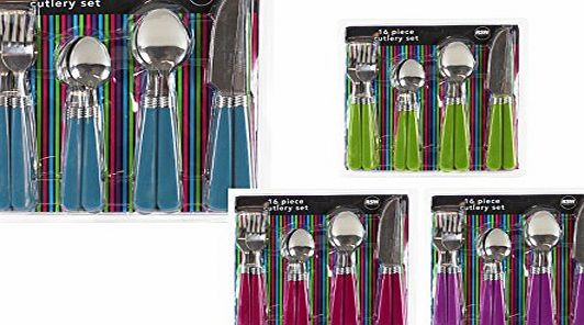 ALANNAHS ACCESSORIES 16 PIECE STYLISH KITCHEN CUTLERY SET STAINLESS STEEL TABLEWARE DINING UTENSILS