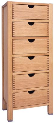 6 Drawer Narrow Chest of Drawers