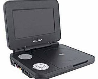7 Inch Portable DVD Player - Pink, White, Black or Silver (Black) (Package may vary)