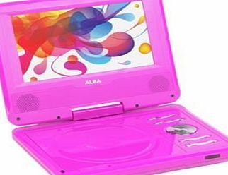 Alba 7 Inch TFT LCD Pink Portable Widescreen DVD Player with Remote