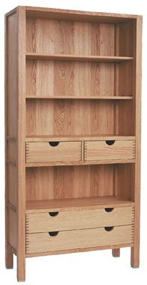 Bookcase with 4 Drawers
