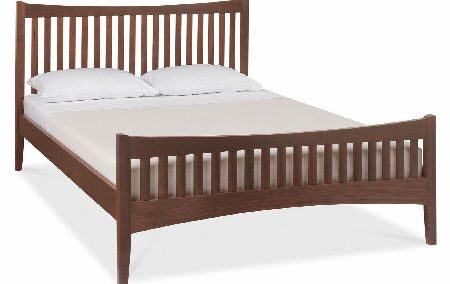 Walnut High Footend Bedstead - Double or