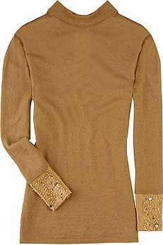 Alberta Ferretti Jeweled wool turtleneck