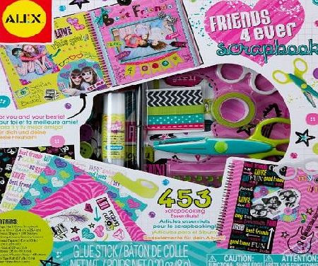 Alex  Toys Friends 4 Ever Scrapbook Kit with 48-Page Hardcover Book Craft