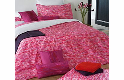 Alexandre Turpault Bisso Bedding Fuchsia Flat Sheet Double/King