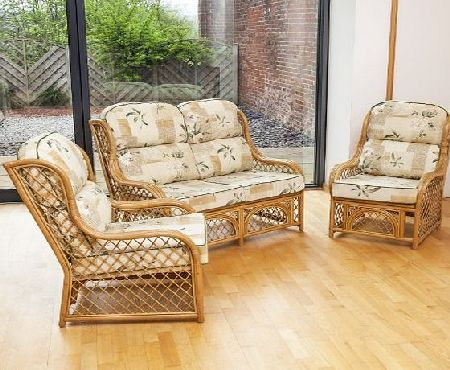 Alfresia Cadiz Conservatory Furniture Set with Harrogate Natural Cushions