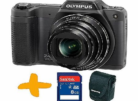 Allcam Bundle: Olympus Stylus SZ-15 Super Zoom Black Digital Camera   Sansdisk 8GB SDHC Memory Card   Allcam Camera Case (16MP, 24x Wide Optical Zoom, 3 inch LCD, Intelligent Auto)