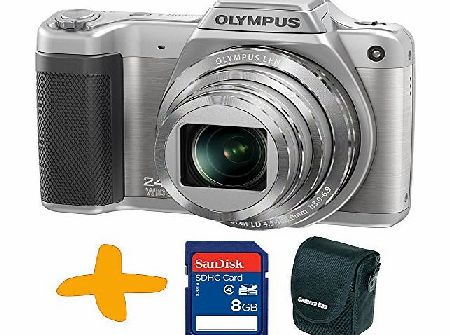 Allcam Bundle: Olympus Stylus SZ-15 Super Zoom Silver Digital Camera   Sansdisk 8GB SDHC Memory Card   Allcam Camera Case (16MP, 24x Wide Optical Zoom, 3 inch LCD, Intelligent Auto)