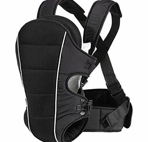 Allis New Allis Baby Carrier Backpack Sling with Lumbar Support 3-in-1 (Black)