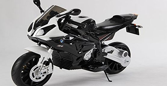ALLKINDATOYS BMW Childs Ride On 12V Motorbike S1000R With Stabilisers - Black