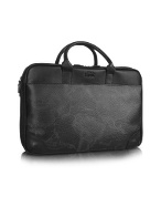 1a Prima Classe - Geo Black Laptop Briefcase