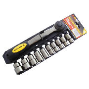 11pc 1/2 Drive Black Nickel Socket Set