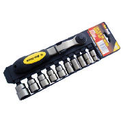 11pc 3/8 Drive Black Nickel Socket Set