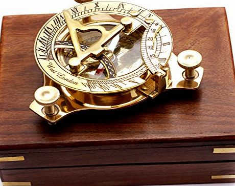 Amazing India Captains Brass Triangle Sundial Compass 3.2 inch Brass Desk Compasses Nautical Decor Home Decoration Executive Promotional Gift