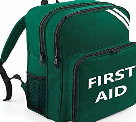 Ambulance-Uniform First Aid Printed Ruck Sack With Enhanced Reflective Strips (Green)