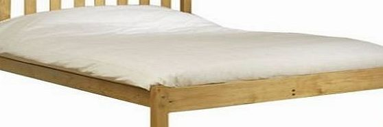 Amelia Shaker single Bed Single 3ft pine bed frame Heavy Duty - Complete with extra wide solid base slats - Chunky 60mm Corner Posts