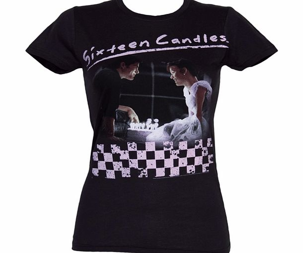 Ladies Sixteen Candles Birthday Cake T-Shirt