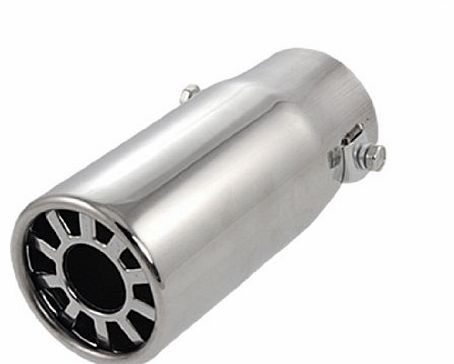 Amico Vehicle Car Auto Exhaust Extension Pipe Silencer Muffler Silver Tone