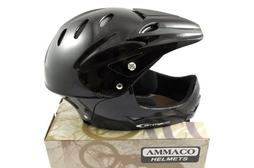 KIDS YOUTH FULL FACE MOUNTAIN BIKE BMX CYCLE HELMET HE770