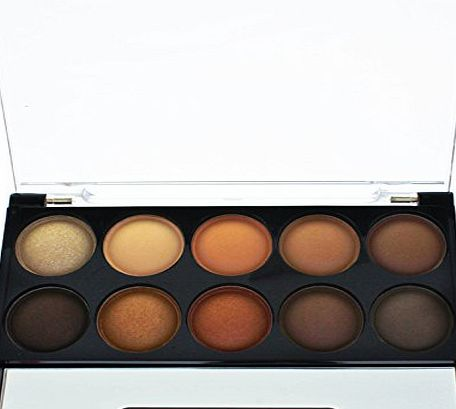 AMOS Eye Shadow Eyeshadow Naked Nude 10 Colour Shade Palette Professional Face Makeup Make Up Beauty Cosmetic Compact Box Kit Set