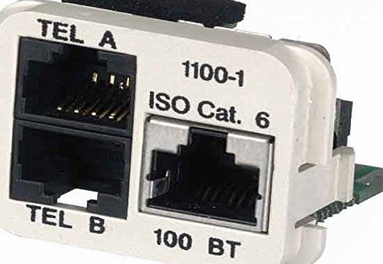 Tyco Electronics AMP Adaptereinsatz Cat.5e rws 0-1711100-5 please note: german product but we supply a UK adapter if necessary