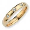 Ampalian Jewellery 18 carat Gold 3 Diamond Wedding Ring