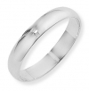 Ampalian Jewellery 18 carat White Gold 4mm D-Shaped Wedding Ring