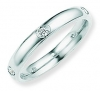 Ampalian Jewellery 18 carat White Gold 5 Diamond Wedding Ring