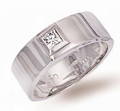Ampalian Jewellery 18 Carat White Gold Diamond Ring (193)