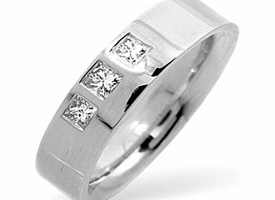 Ampalian Jewellery 18 Carat White Gold Diamond Wedding Ring (168)
