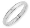Ampalian Jewellery 18 ct. White Gold 3mm Court shaped Wedding Ring
