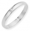 Ampalian Jewellery 18 ct. White Gold 3mm D-shaped Wedding Ring