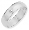 Ampalian Jewellery 18 ct. White Gold 6mm D-shaped Wedding Ring