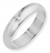 Ampalian Jewellery 9 ct. White Gold 5mm D-shaped Wedding Ring