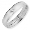 Ampalian Jewellery Platinum 5mm Court Shaped Wedding Ring