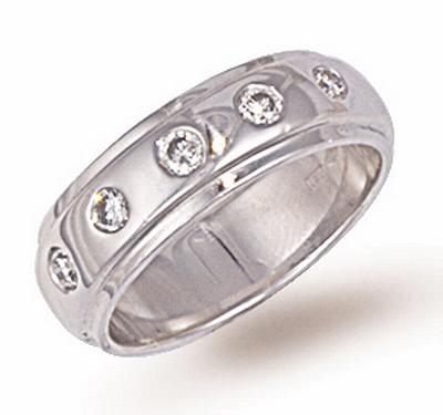 Ampalian Jewellery Platinum Diamond Wedding Ring (352)