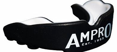 Pro Fit Mouth Guard - Black/White, Boxing, Rugby, MMA, Martial Arts, Hockey Protection