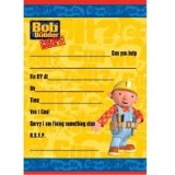 Bob the Builder Balloon Invitations - Bob the Builder Party Invitations sheets with envelopes