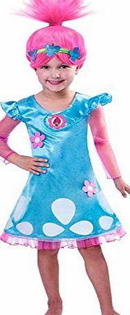 Amscan Christys Dress Up Girls Official Trolls Film Poppy Fancy Dress Outfit (5-6 years)